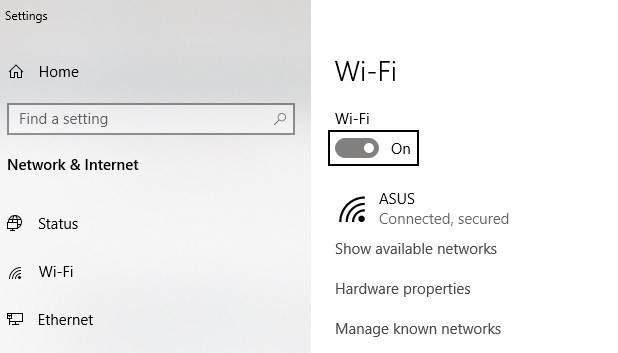 how to restart wifi in windows 10